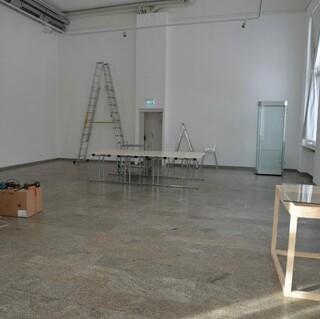 Der große Sonderausstellungsraum – leergeräumt. Foto: Friederike Kaiser