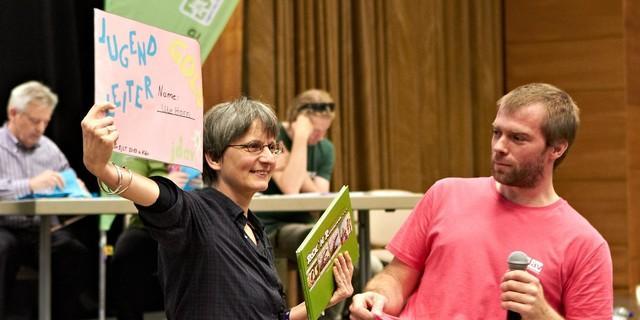 Mimi und Ute bei der Verleihung, Foto: JDAV/Ben Spengler