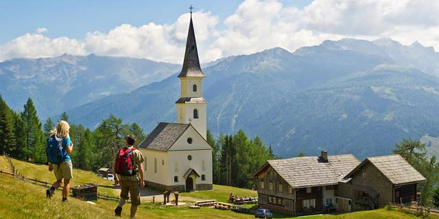 Wallfahrtskirche Marterle in fast 1900m Höhe, Foto: Franz Gerdl