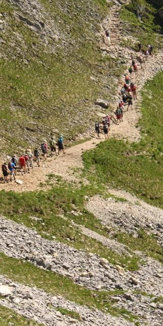 Der Andrang auf die Berge ist groß. Foto: DAV/Steffen Reich