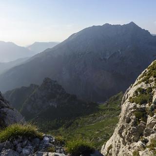 Blick auf den Watzmann von der Schärtenspitze, Berchtesgadener Alpen