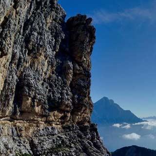 Monte Pelmo (Dolomiten) - Auf dem Ball-Band in der Ostwand des Monte Pelmo, Dolomiten | Foto: Ralf Gantzhorn