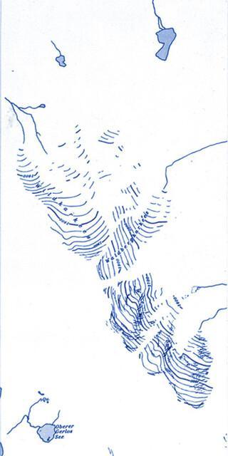"""Die """"blauen Kartenbestandteile"""", die Gewässer. Quelle: DAV"""