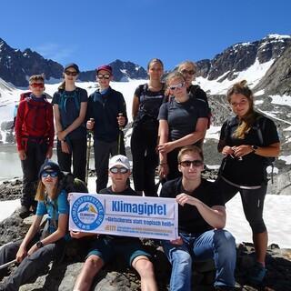 Der Klimagipfel 2020 auf dem Hohen Seeblaskogel im Rahmen des Schulprojekts Alpinwoche. Foto: Peter Klein