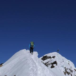 Gipfelgrat am Schalfkogel - Von wegen Gletscherhatscher: Der Gipfelgrat zum Schalfkogel fordert eine gewisse Trittsicherheit.