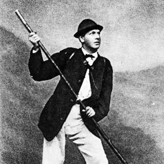 Hermann von Barth als Bergsteiger, Druck, um 1870, Archiv des DAV
