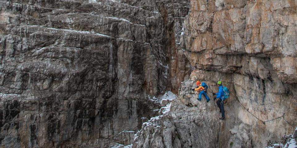 Der Bochette Alte zieht durch grandioses Felsgelände. Foto: Ralf Gantzhorn