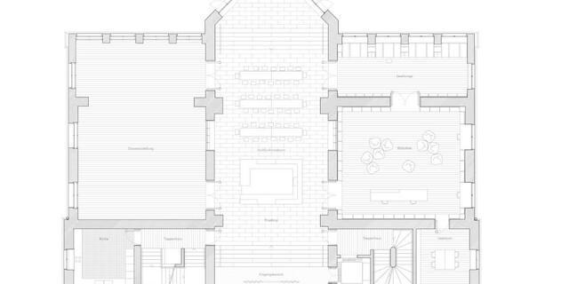 Grundriss Erdgeschoss. Foto: Feil Architekten