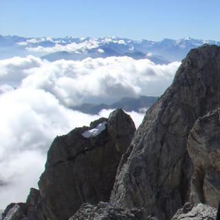 Hoch ueber den Wolken, Koenigsjodler, Hochkoenig, Salzburg, Oesterreich