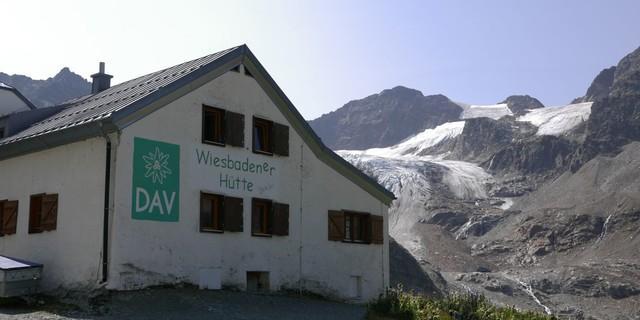 Wiesbadener Hütte in der Silvretta, Foto: Archiv DAV
