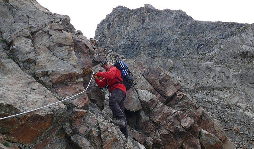 Hornscharte - Die Hornscharte ist der anspruchsvollste und alpinste Teil des Höhenwegs.