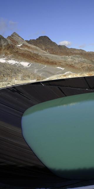 Speicherteich im Pitztaler Gletscherskigebiet. Foto: GöF