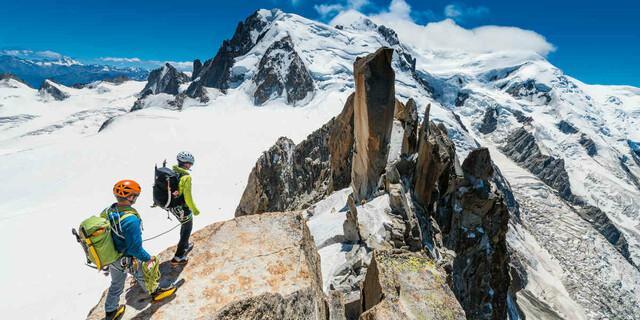 Bergsteiger am Cosmiqugrat. Foto: DAV/R. Gantzhorn