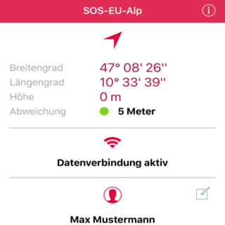 APP-Benutzeroberfläche Smart Phone Display