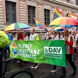 DAV auf der Parade des CSD in München. Foto: GOC