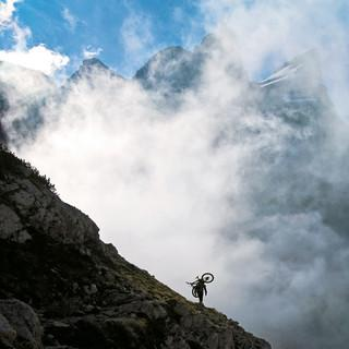 Mountainbiker in der Brenta, Foto: U. Phillips