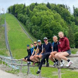 Training am Fuße der Heini-Klopfer Skiflugschanze in Oberstdorf für das SkimoTeamGermany - Foto: STG
