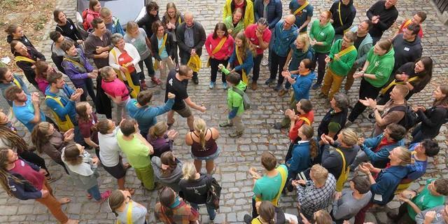 Großer Spaß bei Schnick-Schnack-Schuck mit Fangemeinde - Foto: JDAV/Britta Zwiehoff