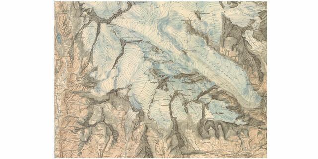 Alpenvereinskarte der Glocknergruppe., Druck auf Papier, 1928, Ausschnitt