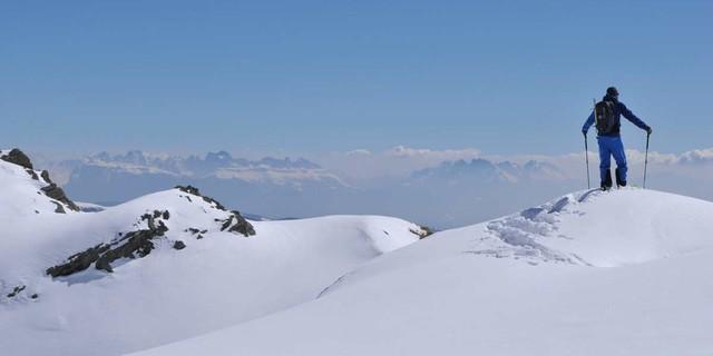 Dolomitenblick - Ist das da hinten schon das Mittelmeer? Nicht ganz, aber gefühlt… Foto: Stefan Herbke