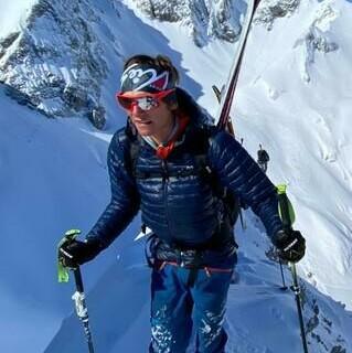 Finn Koch bei der Pierra Menta zum ersten Mal in den Farben des Skimo Team Germany unterwegs - Foto: DAV/Marc Dürr