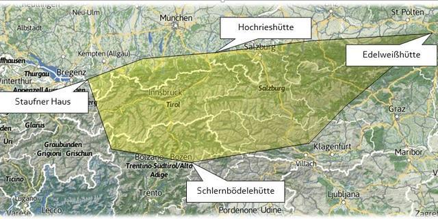 Ausdehnung der Initiative im Alpenraum, Photo: DAV