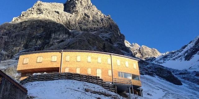 Waltenberger Haus in den Allgäuer Alpen, 2016. Foto: Matthias Hill.