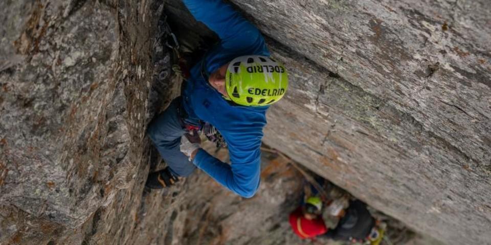 Cleane Risse durften die Jungs am Brevent klettern. Foto: DAV / Silvan Metz