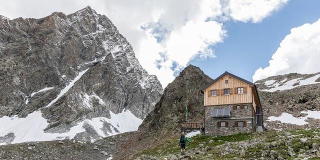 Kaunergrathütte in den Ötztaler Alpen, Foto: DAV/Oliver Guse
