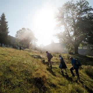 Im Aufstieg zur Priener Hütte. Foto: DAV/Hans Herbig