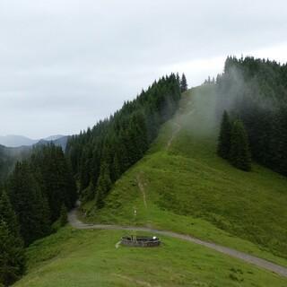 Bei schlechtem Wetter sind die Berge deutlich leerer - beste Bedingungen zum Kräutersammeln. Foto: Astrid Süßmuth