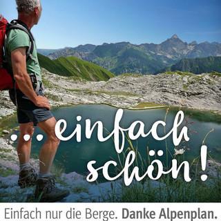 """Kampagne """"Danke Alpenplan"""". Koblat. Foto: Wolfgang B.Kleiner/Bad Hindelang Tourismus"""