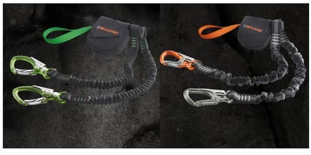 Bei diesen beiden Klettersteigsets kann der Bandfalldämpfer kostenlos ausgetauscht werden, Quelle: Skylotec