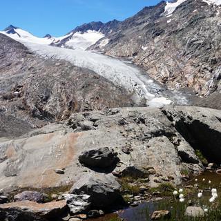 Blick auf die Zunge des Gurgler Ferners, Ötztaler Alpen (Foto: DAV/T. Hipp)