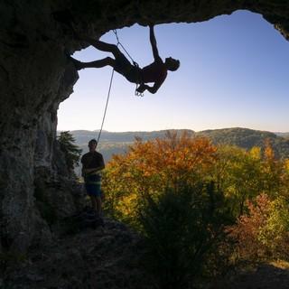 Tagsüber war steiler Fels und bestes Wetter geboten. Foto: Silvan Metz
