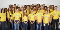 Team Tübingen - Ohne diese engagierten gelben Engel hätte es keinen so guten BJLT gegeben. DANKE. Foto: JDAV/Ben Spengler