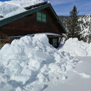 Schneeberge auf der Hochlandhütte, Foto: Familie Müller