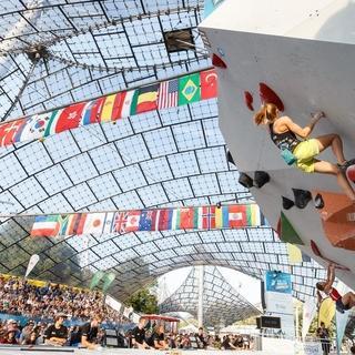 Hannah Meul beim Boulderweltcup München 2018. Foto: DAV/Marco Kost