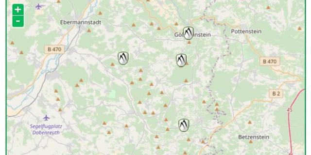 Die vier Felsen, an denen im Frühjahr 2018 ein durchgerutschtes Seil zum Kletterunfall führte