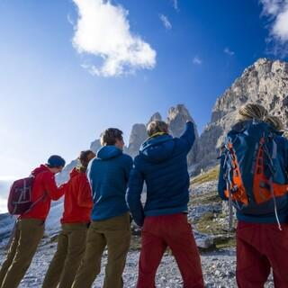 Blick zurück auf die Ausbildung in den Dolomiten, Foto: DAV/Silvan Metz