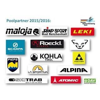 Die Poolpartner der DAV Wettkampfskibergsteiger