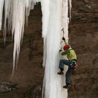 Eisklettern im Val Daone. Foto: DAV