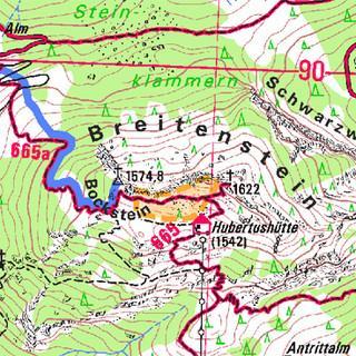 Kartenausschnitt Breitenstein (BY16)