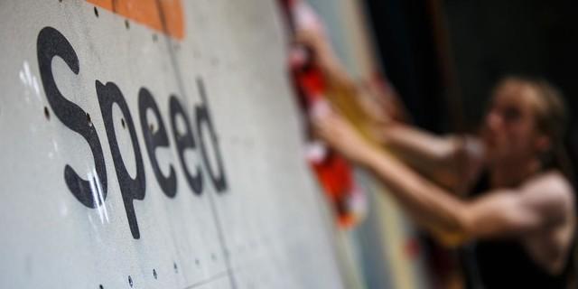 In der Disziplin Speed zählt vor allem die Geschwindigkeit, Foto: DAV/Marco Kost