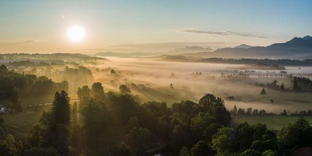 Sonnenaufgang in der Nähe von Murnau, Foto: Wolfgang Ehn