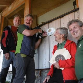 Passauer Hütte Verleihung UGS  Schild