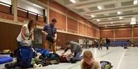 Übernachtung in der Turnhalle