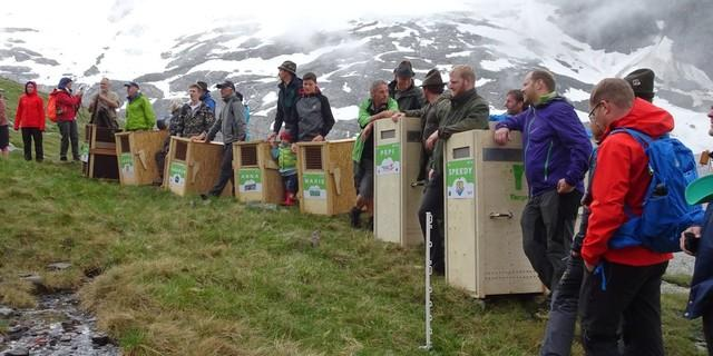 Neue Steinböcke für das Zillertal - kurz vor dem Start, Foto: DAV