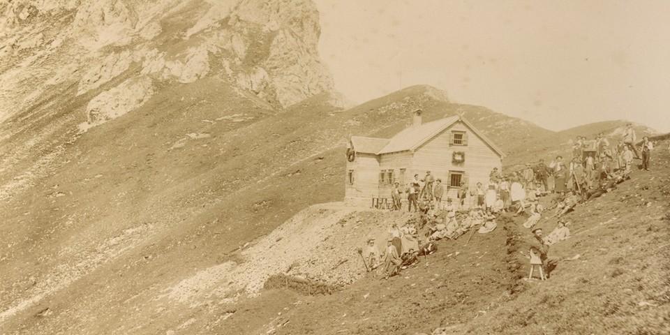Einweihung der Nördlinger Hütte, 1898. Archiv des DAV, München