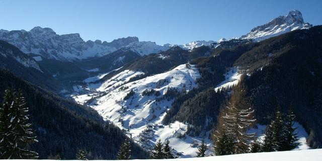 Lungiarü und Puez-/Geislergruppe in den Dolomiten. Foto: TV San Vigilio-San Martin